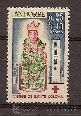 ANDORRA CORREO FRANCES Nº 172 ANFIL SERIE CRUZ ROJA 1964 (Sellos - Temáticas - Cruz Roja)