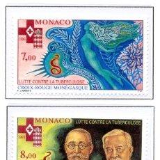 Sellos: MONACO 1996 - CRUZ ROJA - YVERT 2063-64. Lote 26318173