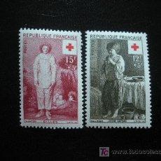 Sellos: FRANCIA 1956 IVERT 1089/90 *** PRO CRUZ ROJA. Lote 16864162