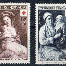 Sellos: FRANCIA AÑO 1953 YV 966/67* CRUZ ROJA - ARTE - PINTURA - NIÑOS. Lote 26262790