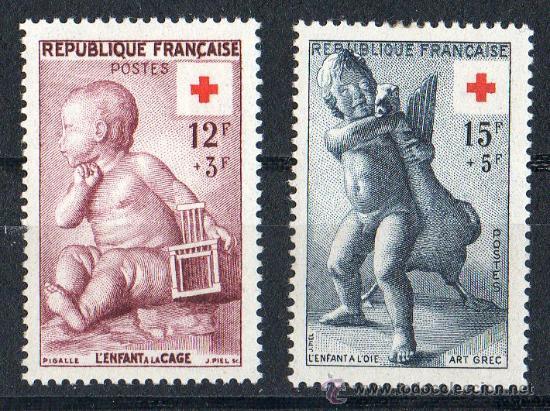 FRANCIA AÑO 1955 CRUZ ROJA YV 1076/77* (Sellos - Temáticas - Cruz Roja)