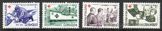 FINLANDIA AÑO 1964 YV 561/64* CRUZ ROJA - NIÑOS - BARCOS - SALVAMENTO - MEDICINA - SALUD (Sellos - Temáticas - Cruz Roja)