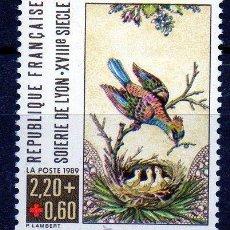 Sellos: FRANCIA AÑO 1989 YV 2612*** CRUZ ROJA - AVES - FAUNA - NATURALEZA - PINTURA. Lote 16762183