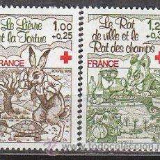 Sellos: FRANCIA IVERT Nº 2024/5, PRO CRUZ ROJA: FABULAS DE LA FONTAINE (LA LIEBRE Y LA ORTUGA ..., NUEVO ***. Lote 18351434