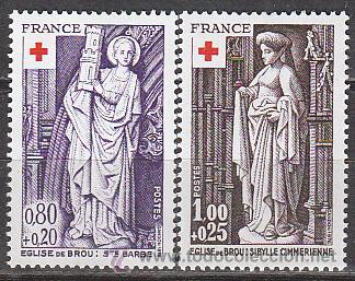 FRANCIA IVERT Nº 1910/1, CRUZ ROJA, ESCULTURAS RELIGIOSAS DE LA IGLESIA DE BROU, NUEVO (Sellos - Temáticas - Cruz Roja)