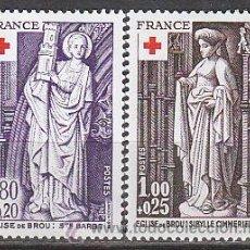 Sellos: FRANCIA IVERT Nº 1910/1, CRUZ ROJA, ESCULTURAS RELIGIOSAS DE LA IGLESIA DE BROU, NUEVO. Lote 19247557