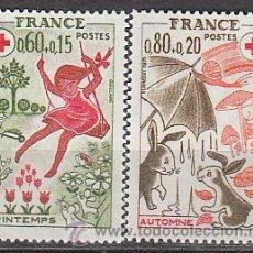 Sellos: FRANCIA IVERT Nº 1860/1, A BENEFICIO DE LA CRUZ ROJA, LAS ESTACIONES, NUEVO. Lote 19460489