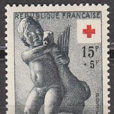 Sellos: FRANCIA IVERT 1049, CRUZ ROJA 1955 (EL NIÑO DE LA OCA, ESTATUA GRIEGA) NUEVO. Lote 169393041
