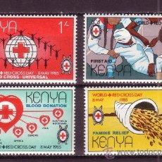Sellos: KENIA 327/30*** - AÑO 1985 - DIA MUNDIAL DE LA CRUZ ROJA. Lote 27823053