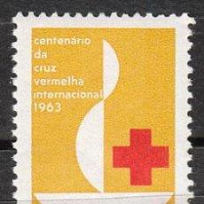 Sellos: BRASIL, CVENTENARIO DE LA CRUZ ROJA, 1963, NUEVO ***. Lote 33768394