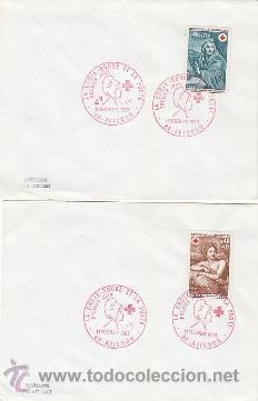 FRANCIA IVERT 1619/20, CRUZ ROJA 1969 (CUADROS DE MIGNARD, INVIERNO Y VERANO), PRIMER DIA 13-12-1969 (Sellos - Temáticas - Cruz Roja)