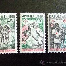 Sellos: NIGER AÑO 1967 YV 202 -203 ** MNH CRUZ ROJA. Lote 34589271