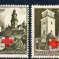 Sellos: GOBIERNO GENERAL AÑO 1940 YV 68/71*** OCUPACIÓN DE POLONIA POR EL III REICH DE ALEMANIA - CRUZ ROJA. Lote 34688455