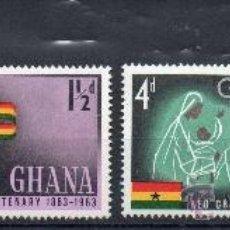 Sellos: GHANA AÑO 1963 YV 131/34*** CENTº DE LA CRUZ ROJA - SALUD - BANDERAS. Lote 34689985
