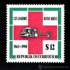 Sellos: AUSTRIA 1750** - AÑO 1988 - 125º ANIVERSARIO DE LA CRUZ ROJA. Lote 38718594