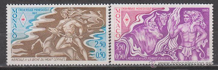 MONACO 1387/8, CRUZ ROJA MONEGASCA: LOS DOS TRABAJOS DE HERCULES (III), NUEVO *** (Sellos - Temáticas - Cruz Roja)