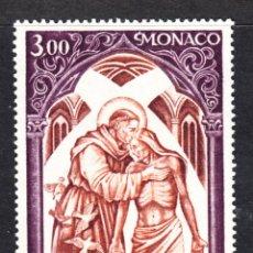 Sellos: MONACO 885** - AÑO 1972 - CRUZ ROJA - SAN FRANCISCO DE ASIS. Lote 210065415