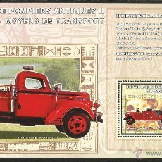 Sellos: CONGO 2006 HOJA BLOQUE SELLO TRANSPORTE - CAMIÓN BOMBERO ANTIGUO. Lote 54535177