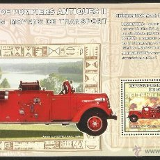 Sellos: CONGO 2006 HOJA BLOQUE SELLO TRANSPORTE - CAMIÓN BOMBERO ANTIGUO. Lote 54535206