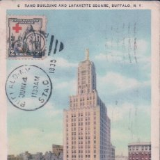 Sellos: NEW YORK BUFFALO RAND BUILDING AND LAFAYETTE SQUARE. SELLO CRUZ ROJA AMERICA 1931. Lote 62118388
