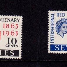 Sellos: COLONIAS BRITÁNICAS. CENTENARIO DE LA CRUZ ROJA 1863-1963. ISLAS SEYCHELLES (ÁFRICA). SERIE COMPLETA. Lote 95311663