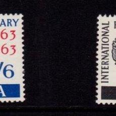 Sellos: COLONIAS BRITÁNICAS. CENTENARIO DE LA CRUZ ROJA 1863-1963. ISLA DE SANTA HELENA (ATLÁNTICO. ANGOLA).. Lote 95311947