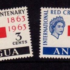 Sellos: COLONIAS BRITÁNICAS. CENTENARIO DE LA CRUZ ROJA 1863-1963. ANTIGUA (ASIA). SERIE COMPLETA. Lote 95312307