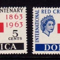 Sellos: COLONIAS BRITÁNICAS. CENTENARIO DE LA CRUZ ROJA 1863-1963. DOMINICA (AMÉRICA. CARIBE). Lote 95314235