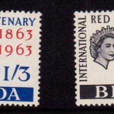 Sellos: COLONIAS BRITÁNICAS. CENTENARIO DE LA CRUZ ROJA 1863-1963. ISLAS BERMUDAS (ATLÁNTICO). Lote 95314487