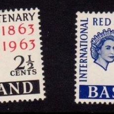 Sellos: COLONIAS BRITÁNICAS. CENTENARIO DE LA CRUZ ROJA 1863-1963. BASUTOLANDIA (ÁFRICA AUSTRAL). Lote 95314759