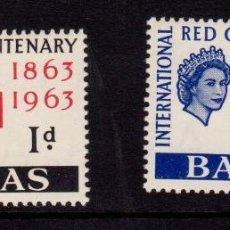 Sellos: COLONIAS BRITÁNICAS. CENTENARIO DE LA CRUZ ROJA 1863-1963. ISLAS BAHAMAS (AMÉRICA DEL NORTE. CARIBE). Lote 95314863