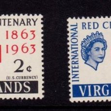 Sellos: COLONIAS BRITÁNICAS. CENTENARIO DE LA CRUZ ROJA 1863-1963. ISLAS VÍRGENES (CÁRIBE). Lote 95315331