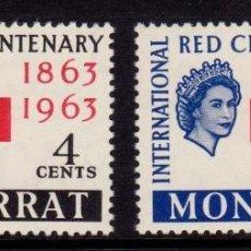 Sellos: COLONIAS BRITÁNICAS. CENTENARIO DE LA CRUZ ROJA 1863-1963. MONSERRAT (CÁRIBE). Lote 95315631