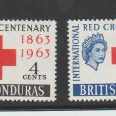 Sellos: BRITISH HONDURAS 1963 RED CROSS CRUZ ROJA 1963 MNH NUEVOS . Lote 95408167