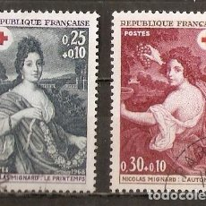 Timbres: FRANCIA. 1968. YV Nº 1580,1581. Lote 99872343