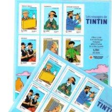 Sellos: TINTIN - SELLOS - CRUZ ROJA FRANCESA 2007. Lote 100280355