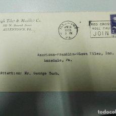 Sellos: ESTADOS UNIDOS. CARTA CIRCULADA CON MATASELLOS DE LA CRUZ ROJA 14/11/1939. Lote 109234239