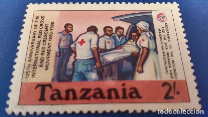 SELLO DE TANZANIA. CRUZ ROJA, AYUDA HUMANITARIA. 125 ANIVERSARIO CRUZ ROJA 1988 (Sellos - Temáticas - Cruz Roja)