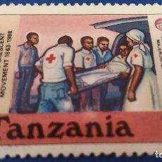 Sellos: SELLO DE TANZANIA. CRUZ ROJA, AYUDA HUMANITARIA. 125 ANIVERSARIO CRUZ ROJA 1988. Lote 121565715