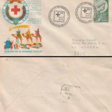 Sellos: AÑO 1956, HOMENAJE A LA CRUZ ROJA, CAMPAÑA DE REYES, SOBRE ALFIL CIRCULADO . Lote 124545427