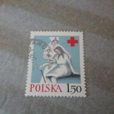 Sellos: SELLOS DE R. DE POLONIA (POLSKA) MTDOS. 1977. CRUZ ROJA. ENFERMERA. ANCIANO. AYUDA. Lote 125183368