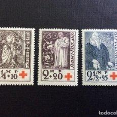 Sellos: FINLANDIA Nº YVERT 173/5*** AÑO 1933. PRO CRUZ ROJA. OBISPOS DE TURKU. Lote 127886575