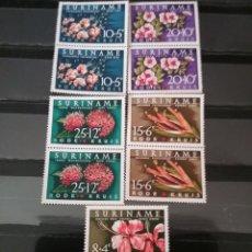 Sellos: SELLOS DE SURINAME NUEVOS. 1962. FUNDACION. CRUZ ROJA. FLORES. FLORA. PLANTAS. LORO. HIBISCO. TERESI. Lote 130667889