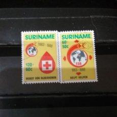 Sellos: SELLOS R. SURINAM (SURINAME) MTDOS. 1988. CRUZ ROJA. SANGRE. GOTA. EMBLEMA. GLOBO TERRAQUEO.. Lote 131388889