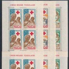 Sellos: SELLOS TOGO 1959 Y&T 2/3/4** 6 HOJAS DENTADAS Y SIN DENTAR. Lote 134614478