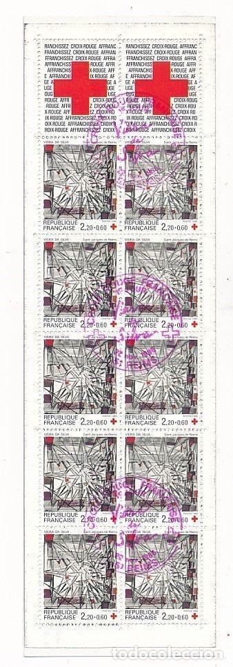 SELLOS FRANCIA 1986 Y&T 2449 CARNET CRUZ ROJA (Sellos - Temáticas - Cruz Roja)