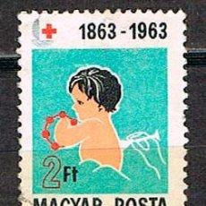 Sellos: HUNGRIA Nº 1972, CENTENARIO DE LA CRUZ ROJA INTERNACIONAL, NIÑO JUGANDO, USADO. Lote 135445214