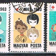 Sellos: HUNGRIA Nº 1972, CENTENARIO DE LA CRUZ ROJA INTERNACIONAL, NIÑO JUGANDO, USADO (3 SELLOS, SERIE INCO. Lote 135445330
