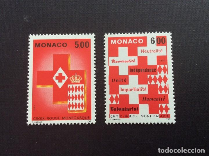 MONACO Nº YVERT 1906/7*** AÑO 1993. CRUZ ROJA MONEGASCA (Sellos - Temáticas - Cruz Roja)