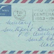 Sellos: 1963. RODESIA. BULAWAYO. RODILLO/SLOGAN. RED CROSS CENTENARY 1863-1963. CRUZ ROJA.. Lote 143160326